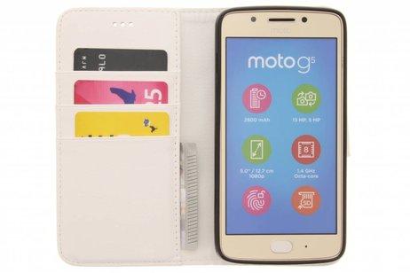 Motorola Moto G5 hoesje - Design Softcase Booktype voor