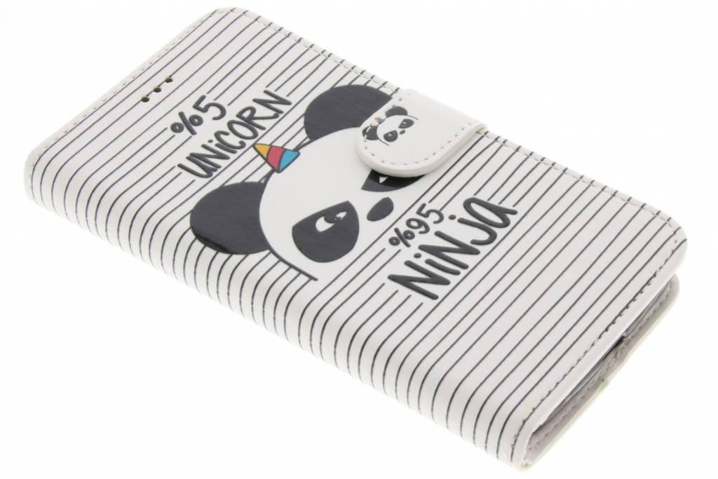 Design Softcase Booktype voor Motorola Moto G5 - Unicorn Ninja