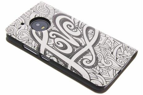 Design Hardcase Booktype voor Motorola Moto G5 - Love
