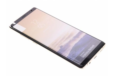Gehard Glas Edge to Edge Screenprotector voor Samsung Galaxy Note 8 - Zwart