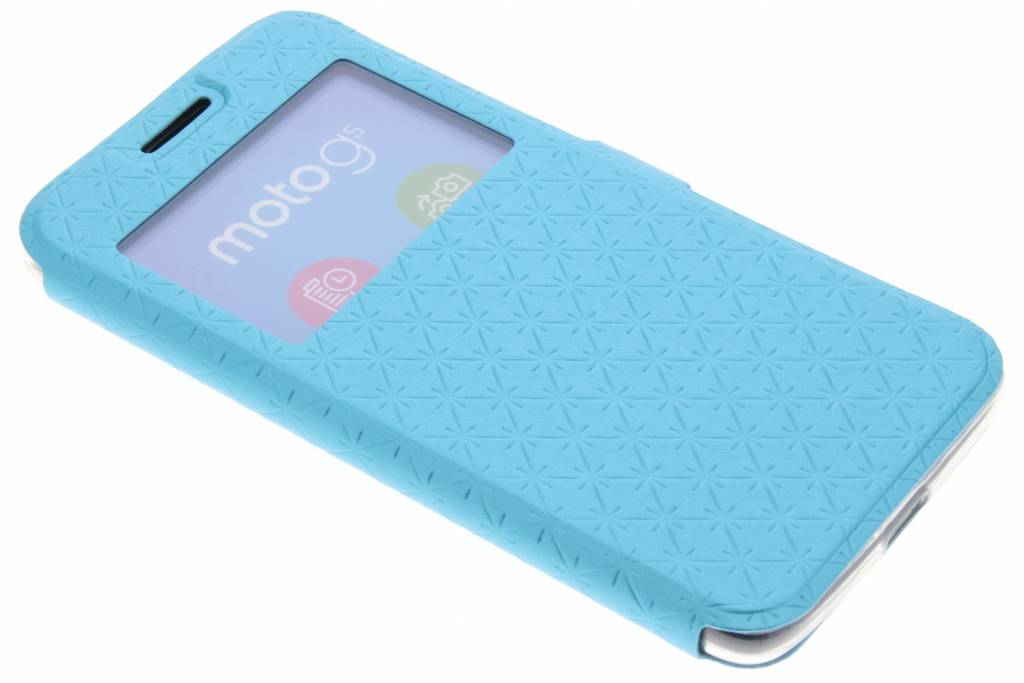 Blauw Rhombus hoesje voor de Motorola Moto G5