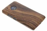 Hout Design Backcover voor Motorola Moto G5 - Donkerbruin