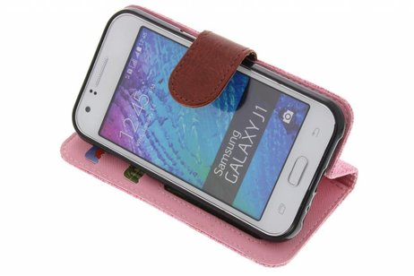 Samsung Galaxy J1 hoesje - Linnen Booktype voor Samsung
