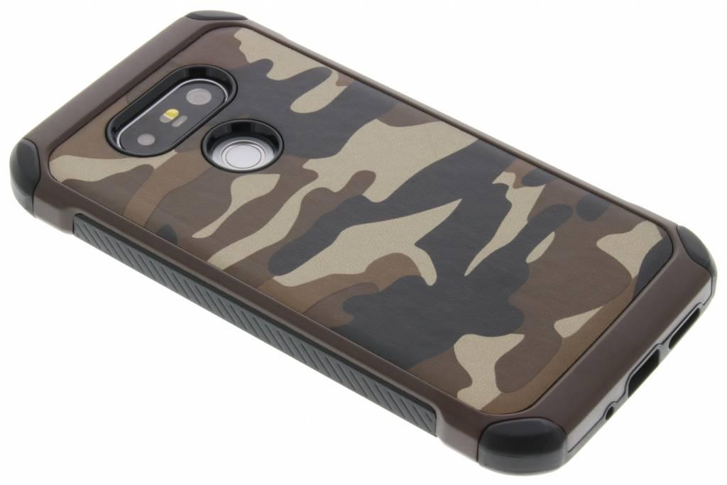 Army Defender Backcover voor LG G5 (SE) - Bruin