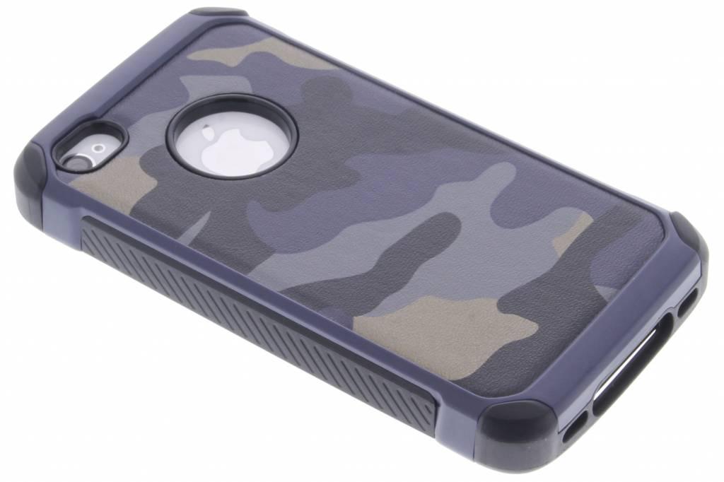 Army Defender Backcover voor iPhone 4 / 4s - Blauw