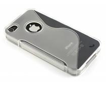 Transparant S-line TPU hoesje iPhone 4(s)
