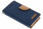 Mercury Goospery Canvas Diary Booktype voor iPhone 4 / 4s - Blauw