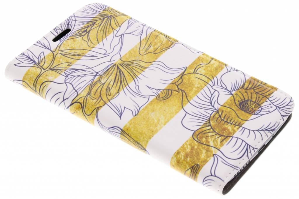 Design Hardcase Booktype voor Motorola Moto G5S - Glamour Bloemen