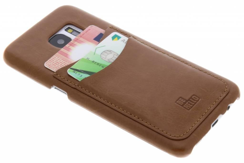 Be Hello Bruine Card Case voor de Samsung Galaxy S7 Edge