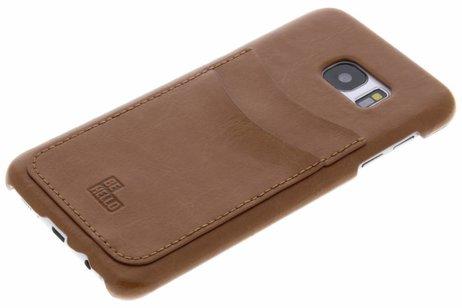 Be Hello Card Backcover voor Samsung Galaxy S7 Edge - Bruin