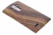 Hout Design Backcover voor LG G4 - Donkerbruin