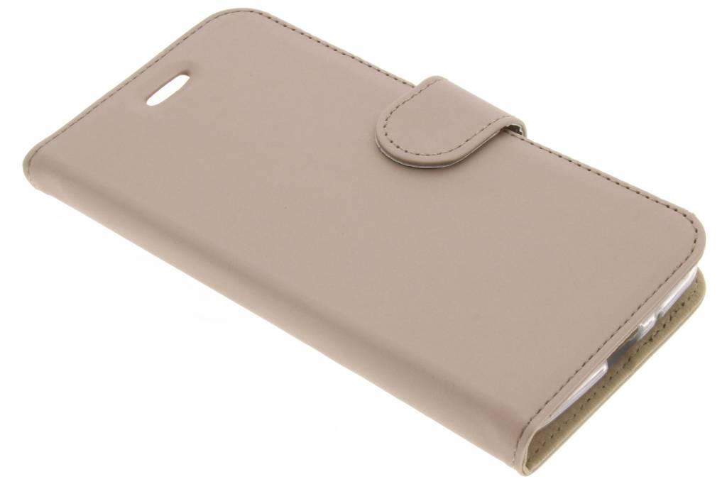 Accezz Wallet Softcase Booktype voor Motorola Moto E4 - Goud