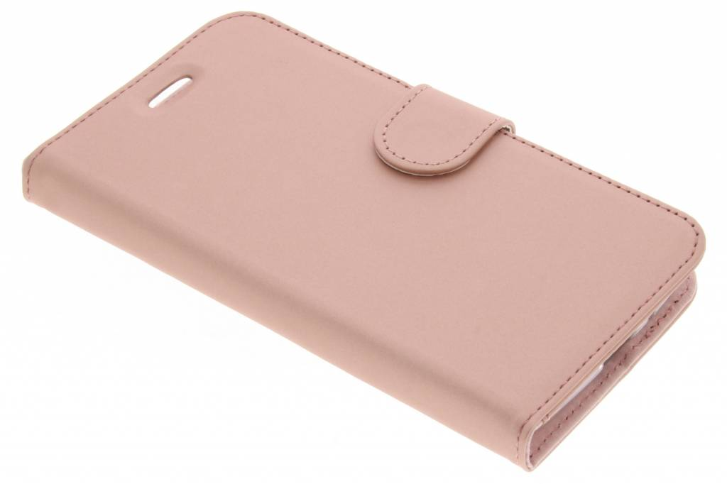 Accezz Wallet Softcase Booktype voor Motorola Moto E4 - Rosé goud