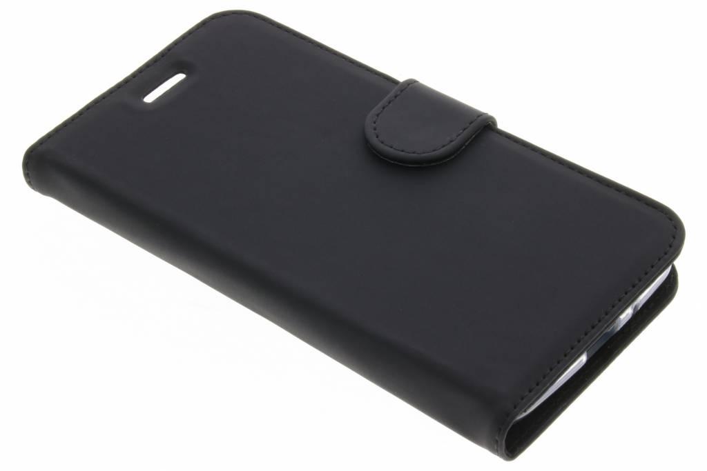 Accezz Wallet Softcase Booktype voor Motorola Moto E4 Plus - Zwart