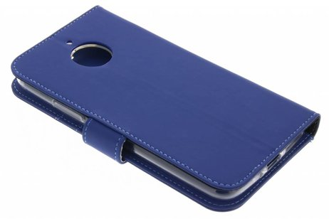 Accezz Wallet Softcase Booktype voor Motorola Moto E4 Plus - Donkerblauw