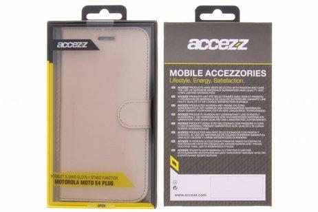 Accezz Wallet Softcase Booktype voor Motorola Moto E4 Plus - Goud