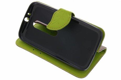 Motorola Moto G 3rd Gen 2015 hoesje - Blad Design Booktype voor