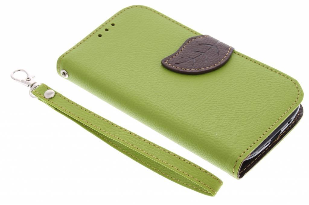 Blad Design Booktype voor Samsung Galaxy S3 / Neo - Groen
