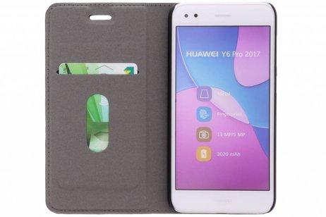 Effen Hardcase Booktype voor Huawei Y6 Pro (2017) / P9 Lite Mini - Zwart