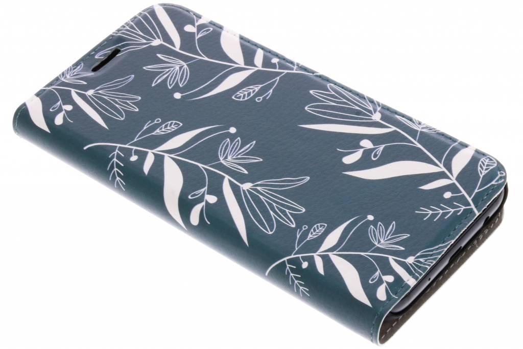 Design Hardcase Booktype voor Samsung Galaxy J5 (2017) - Botanic Bloem