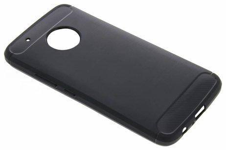Brushed Backcover voor Motorola Moto G5 Plus - Zwart