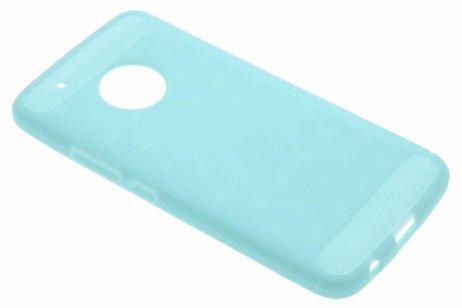 Brushed Backcover voor Motorola Moto G5 Plus - Turquoise