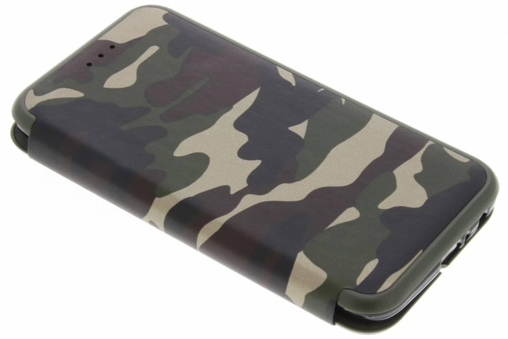Army Slim Folio Booktype voor Motorola Moto G5 Plus - Groen