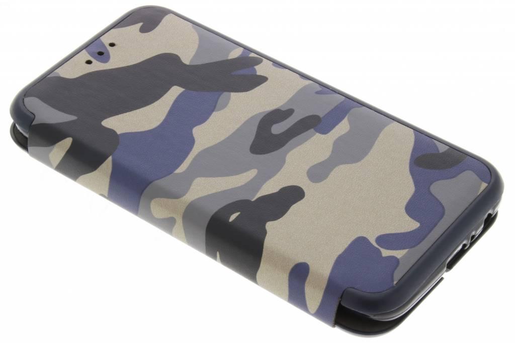 Army Slim Folio Booktype voor Motorola Moto G5 Plus - Blauw