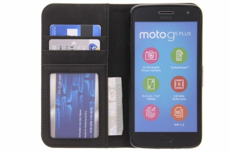 Motorola Moto G5 Plus hoesje - Luxe Lederen Booktype voor