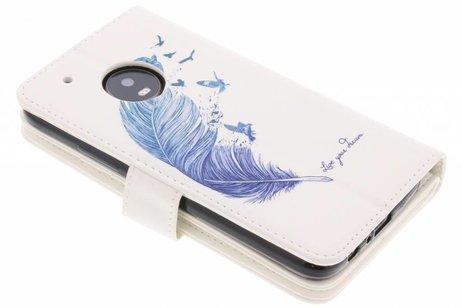Design Portemonnee 9 slots voor Motorola Moto G5 Plus - Blauwe Veer