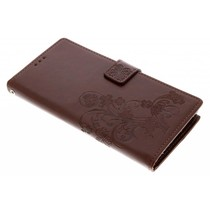 Klavertje Bloemen Booktype Sony Xperia XA2 Ultra