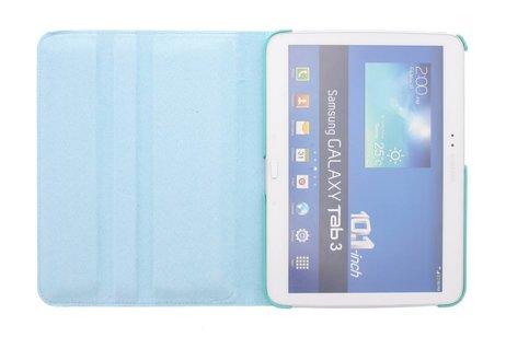 360° Draaibare krokodil Bookcase voor Samsung Galaxy Tab 3 10.1 - Turquoise
