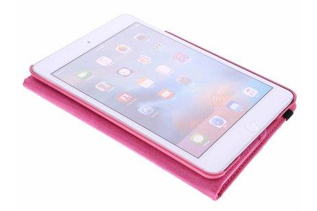 360° Draaibare Bookcase voor iPad Mini 4 - Roze