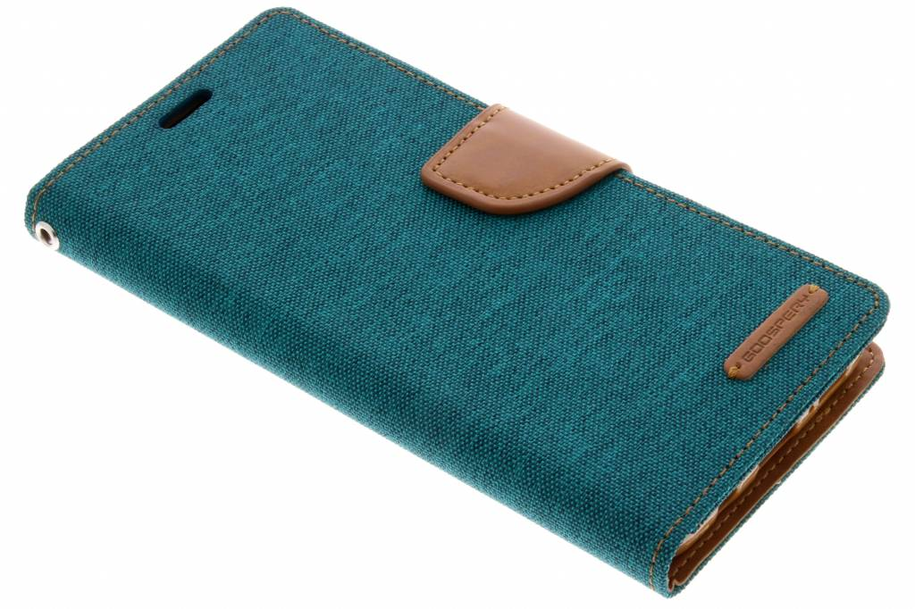 Mercury Goospery Canvas Diary Booktype voor Samsung Galaxy S9 Plus - Groen