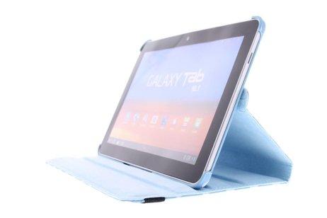 360° Draaibare Polka Dot Bookcase voor Samsung Galaxy Tab 2 10.1 - Blauw