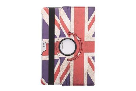 360° Draaibare Design Bookcase voor Samsung Galaxy Tab 2 10.1 - Britse Vlag