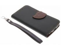 Zwart blad design TPU booktype hoes LG K10
