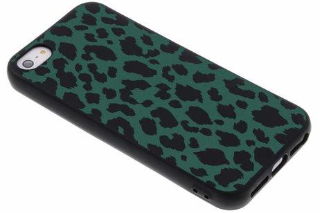 Design Backcover Color voor iPhone SE / 5 / 5s - Panter Groen