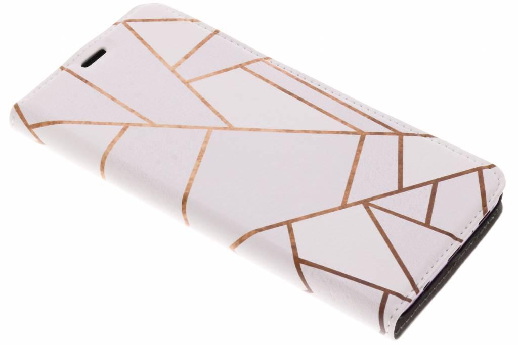 Design Hardcase Booktype voor Samsung Galaxy S9 Plus - Grafisch Wit / Koper
