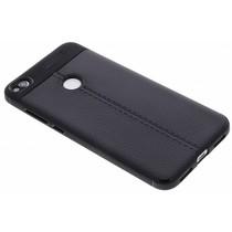 Lederen Backcover met stiksel Huawei P8 Lite (2017)