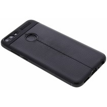 Lederen Backcover met stiksel Huawei P Smart