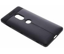Lederen Backcover met stiksel Sony Xperia XZ2