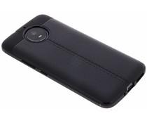 Lederen Backcover met stiksel Motorola Moto G5S