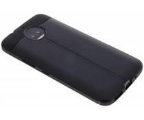 Lederen Backcover met stiksel Motorola Moto G5S Plus