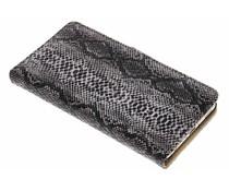 Zwart slangenprint booktype hoes Huawei P9