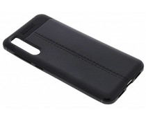 Lederen Backcover met stiksel Huawei P20 Pro