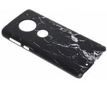 Zwart marmer look hardcase hoesje Motorola Moto G6
