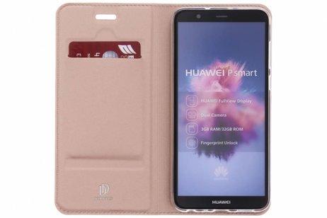 Dux Ducis Slim Softcase Booktype voor Huawei P Smart - Rosé goud