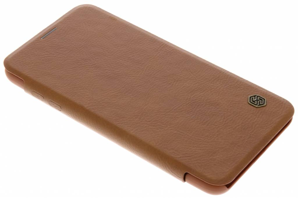 Nillkin Qin Leather Slim Booktype voor LG V30 - Bruin
