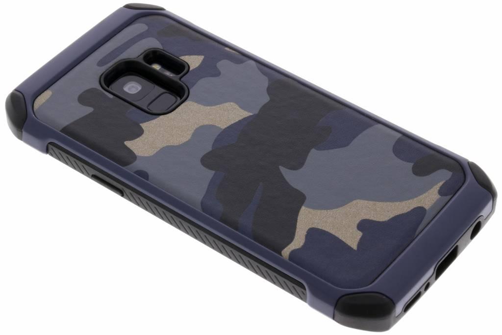 Army Defender Backcover voor Samsung Galaxy S9 - Blauw